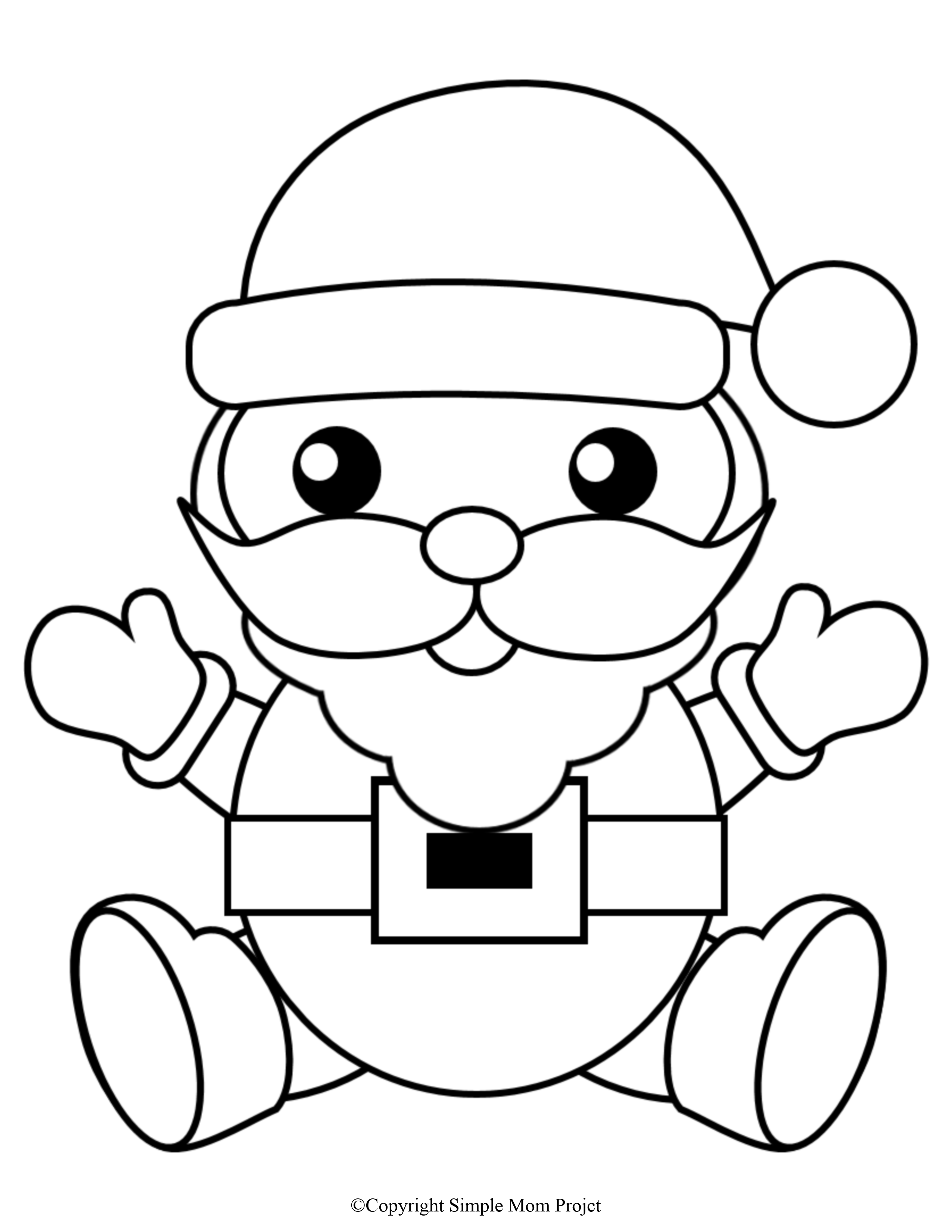 Click Now To Print These Cute Free Christmas Coloring