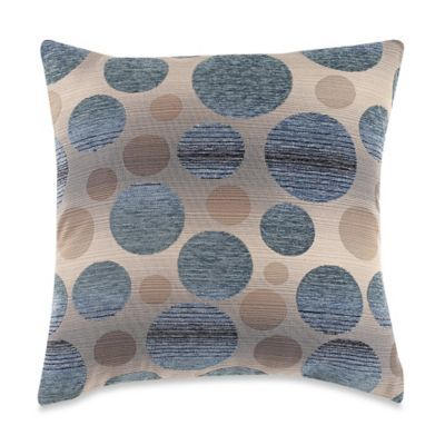 Bed Bath And Beyond Decorative Pillows Mesmerizing Buy Myop Ombre Circle Square Throw Pillow Cover In Bluegrey From Design Ideas