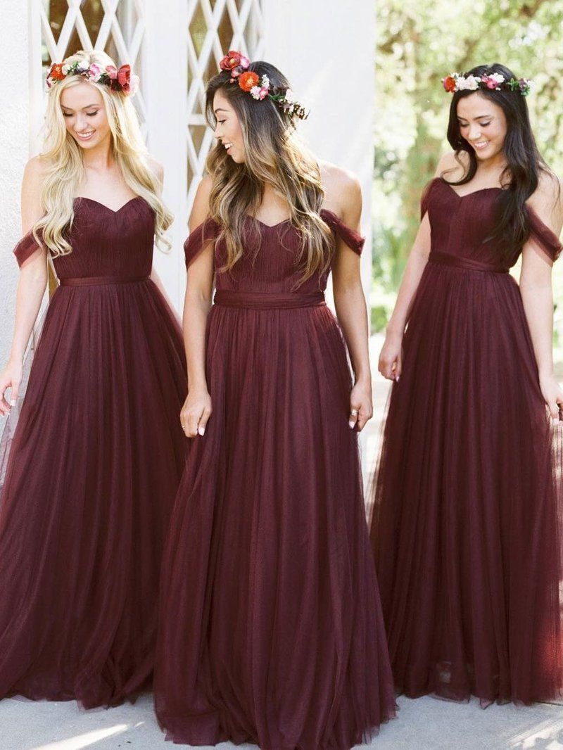 burgundy bridesmaid dresses cheap long bridesmaid dresses