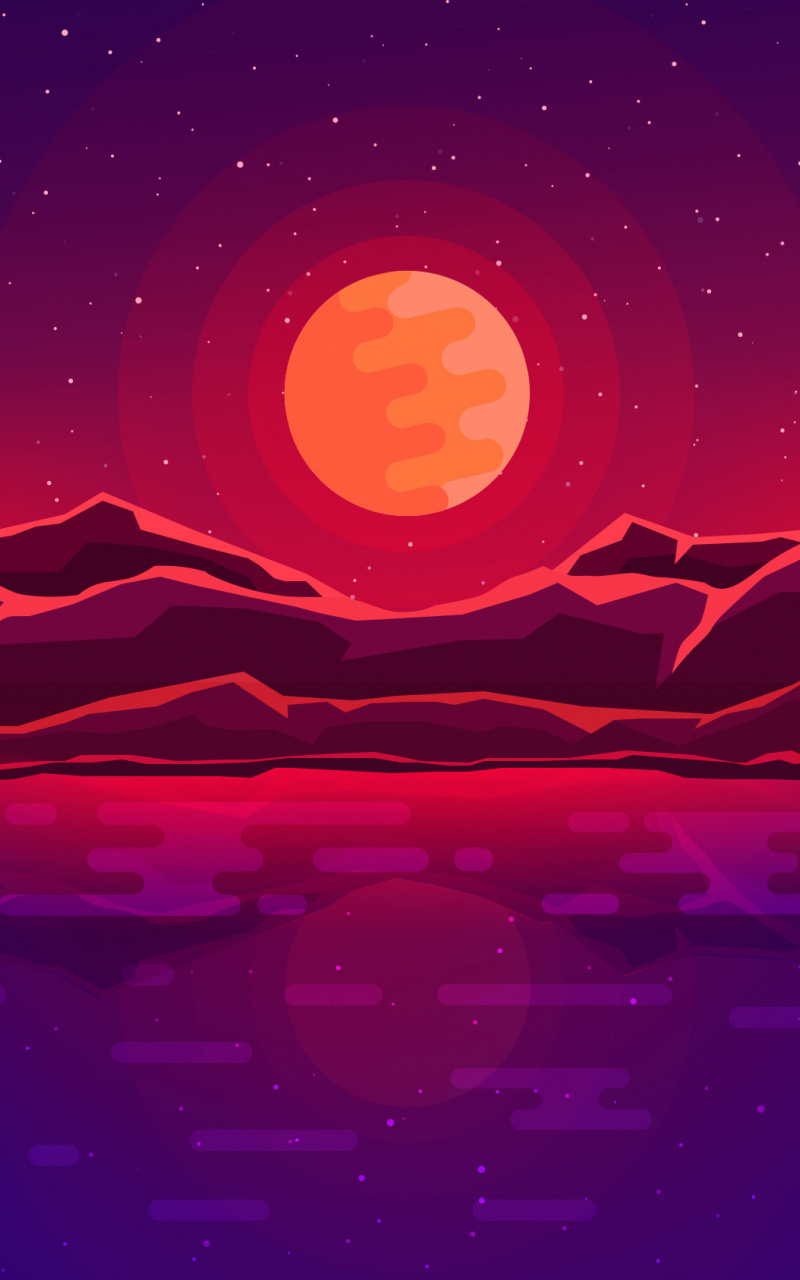 Download 800x1280 Wallpaper Moon Rays Red Space Sky Abstract Mountains Samsung Galaxy Note Gt N7000 Meizu Mx 2 8 Mkbhd Wallpapers Art Wallpaper Abstract