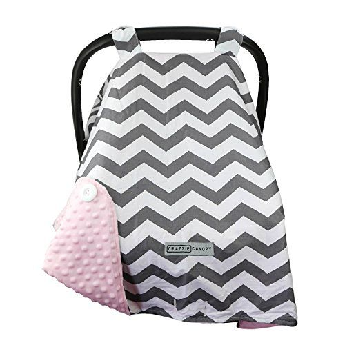 Premium Car Seat Cover With Peekaboo Opening For Infant Carseats By Kids N Such Damask Canopy With Soft Pink Minky Ropa Cosas Para Bebe Jabones De Tocador