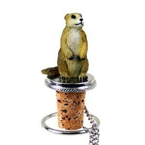 Prairie Dog Bottle Stopper by Conversation Concepts. $11.95. Wine Save Cork. Satisfaction Guaranteed. Pewter Base with chain and Ring to keep it with the bottle.. Made of Poly Resin and Hand Painted.. Approximately 1.5 - 2 inches.. Make every event a great event with this life like critter on your cool Prairie Dog Bottle Stopper. Who could resist the charms of this cute little guy designed to fit perfectly atop any standard wine bottle. Measuring at 1 1/2 to 2 inch...