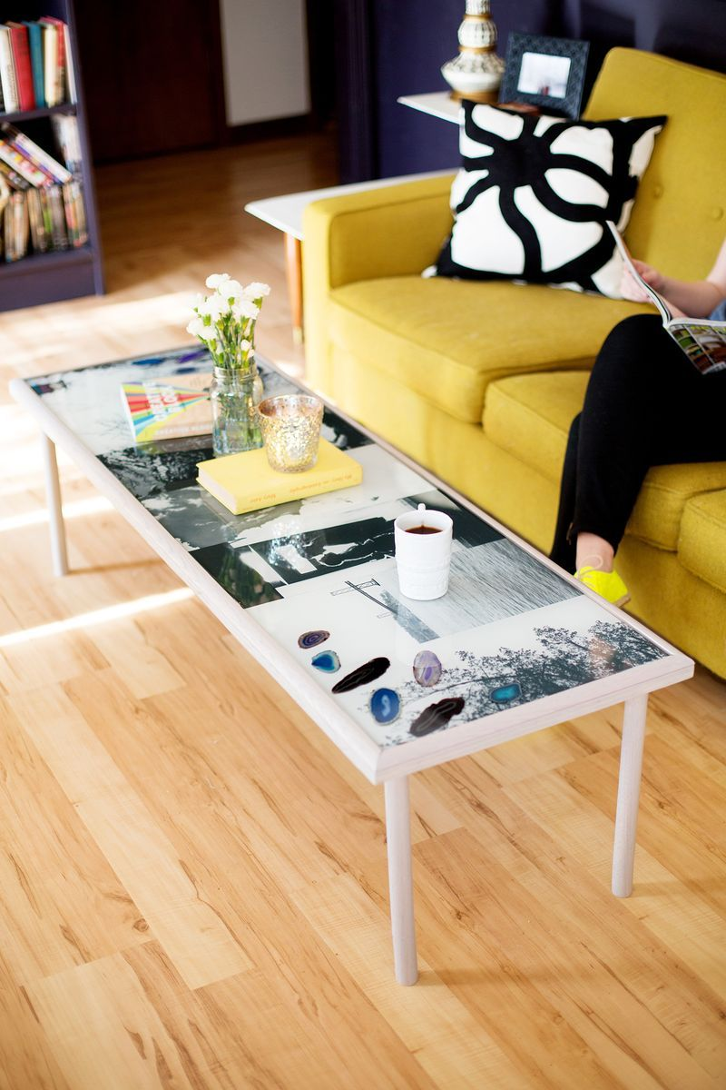 what a cool project: a #diy epoxy photograph coffee table. | diy