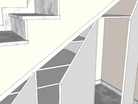 Αποτέλεσμα εικόνας για como aprovechar placard bajo escalera - roulette de porte de placard