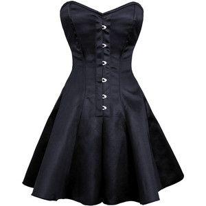 ayana gothic plus size corset dress corset