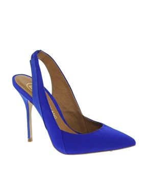 Image 1 of River Island Leather Odil Slingback Court Shoes | You ...