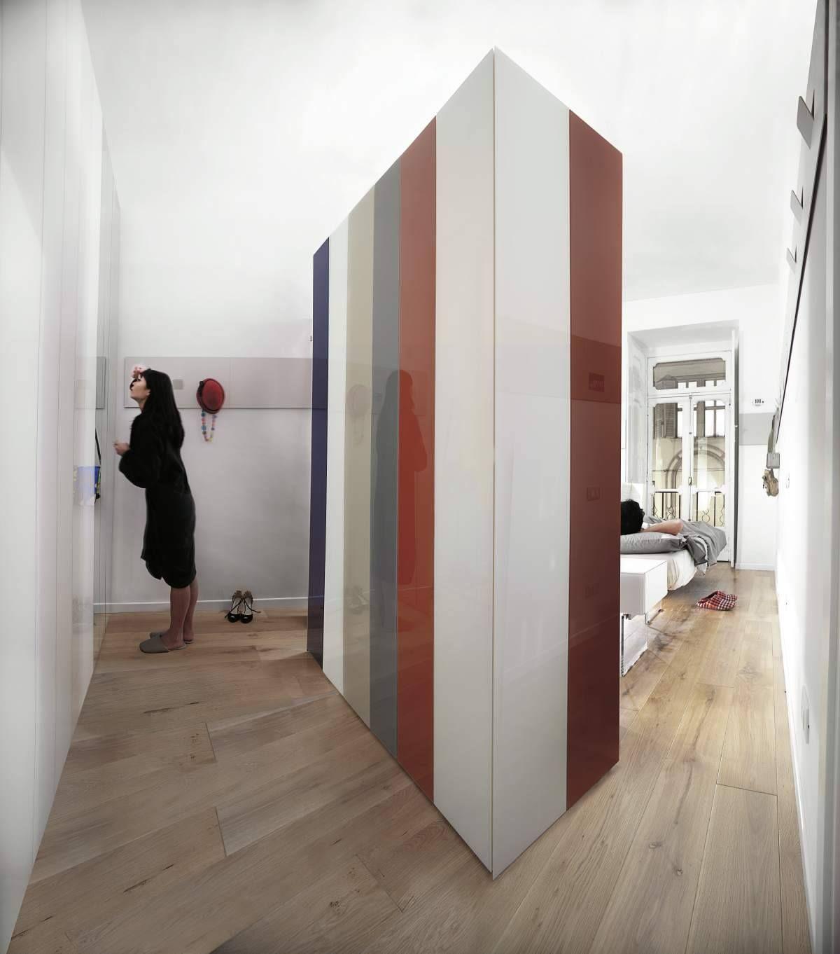 Now an infinitely customisable wardrobe becomes for Mobili italiani design