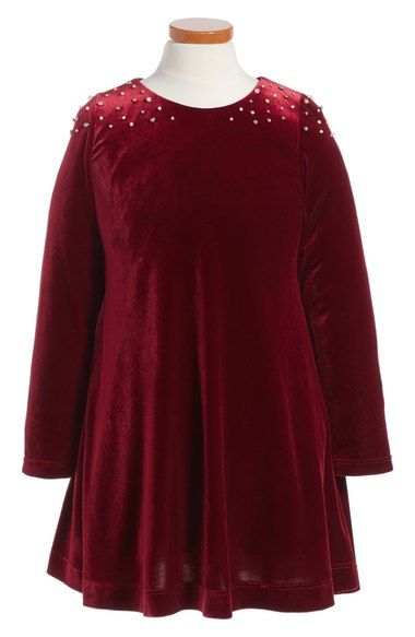 Peek Anastasia Velvet Dress (Toddler Girls, Little Girls & Big Girls) available at #Nordstrom