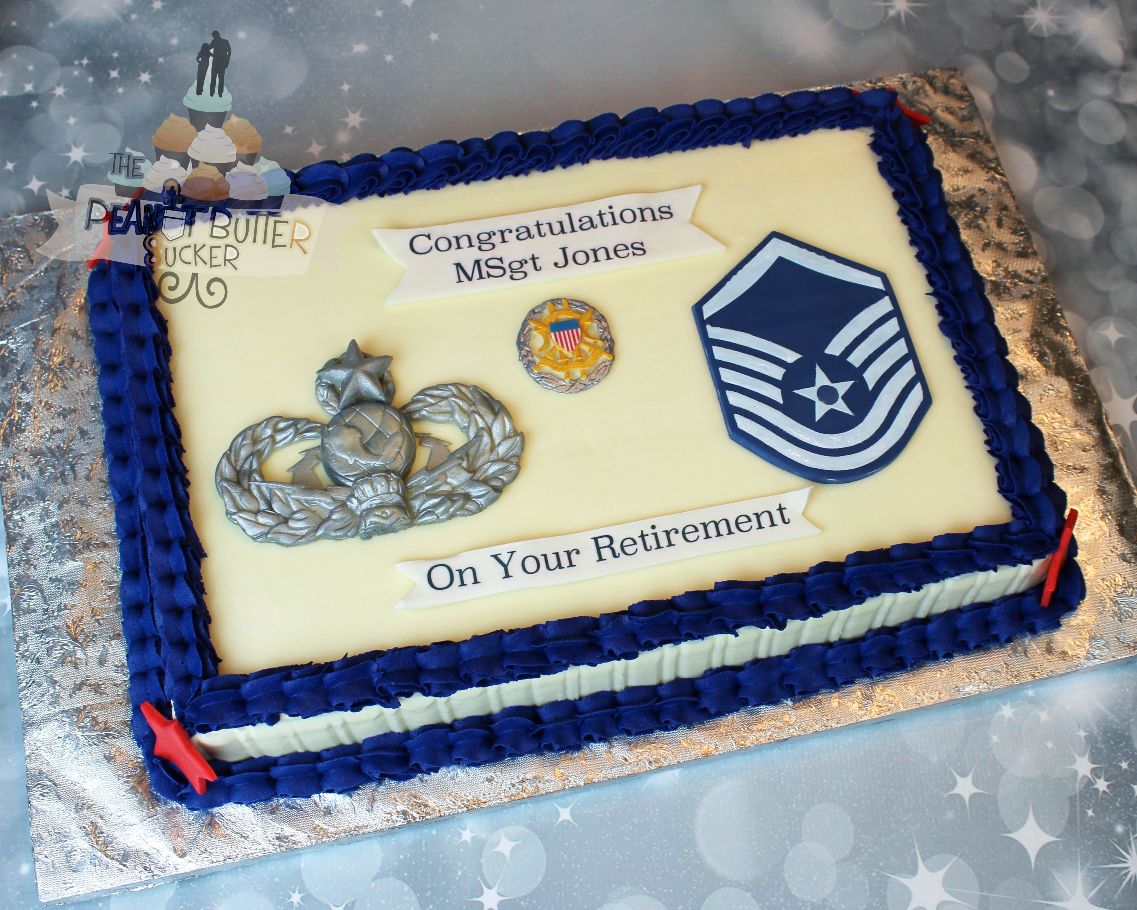 Air Force Promotion cake (With images) Retirement cakes