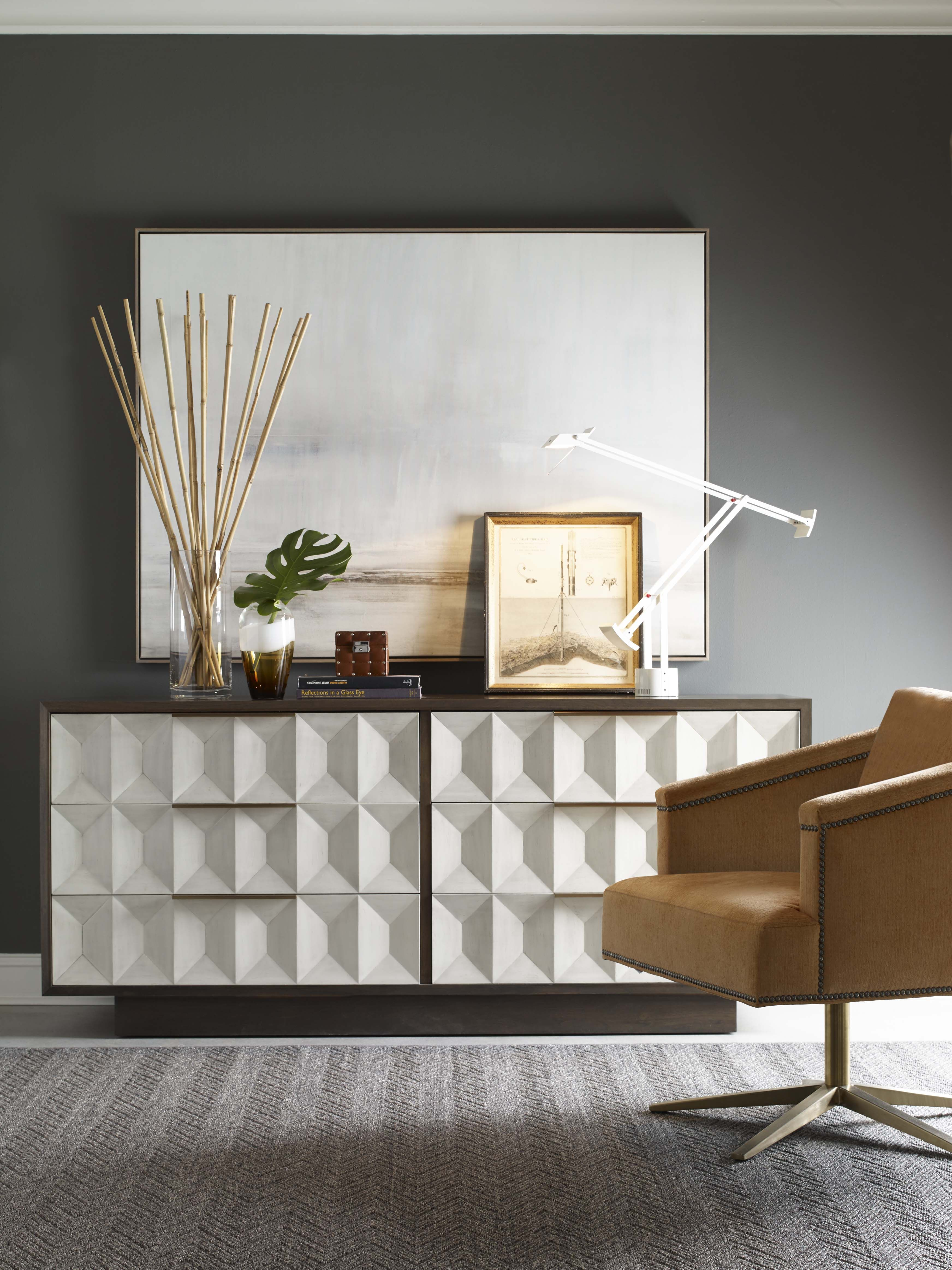 Modern Chest and custom armchair at Avenue Design Canada