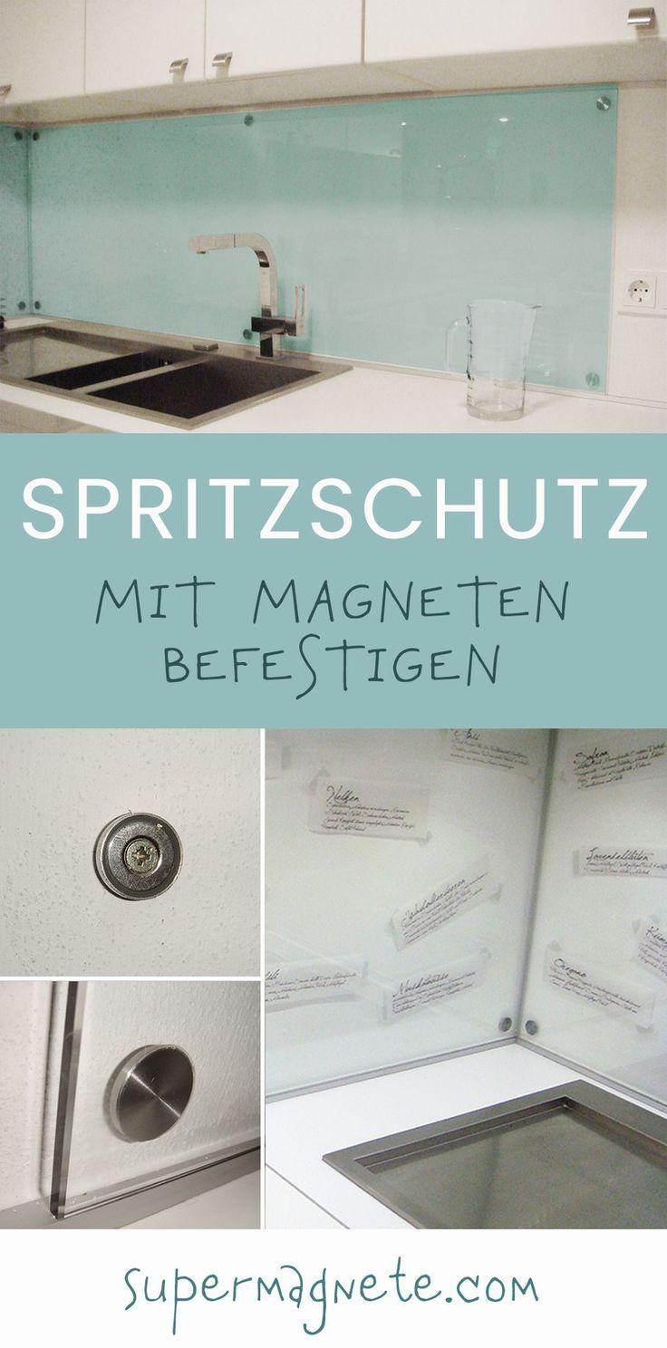 Abnehmbarer Spritzschutz für die Küche mit Magneten  Küche