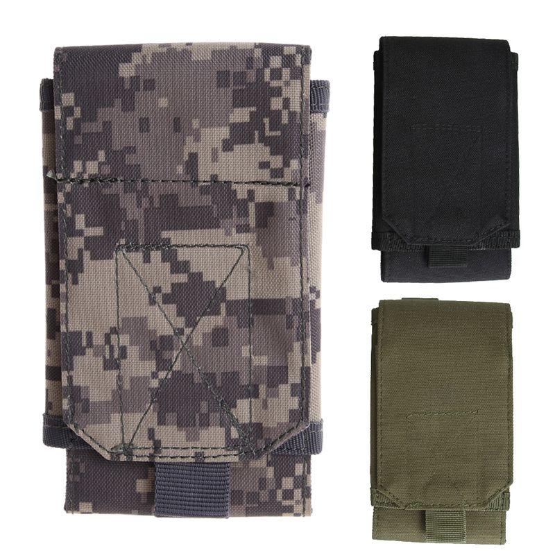 Molle Tactical Army Camouflage Frame Bag Hook Loop Belt Pouch Holster Cover Case Universal Bag For Iphone case molle army camo