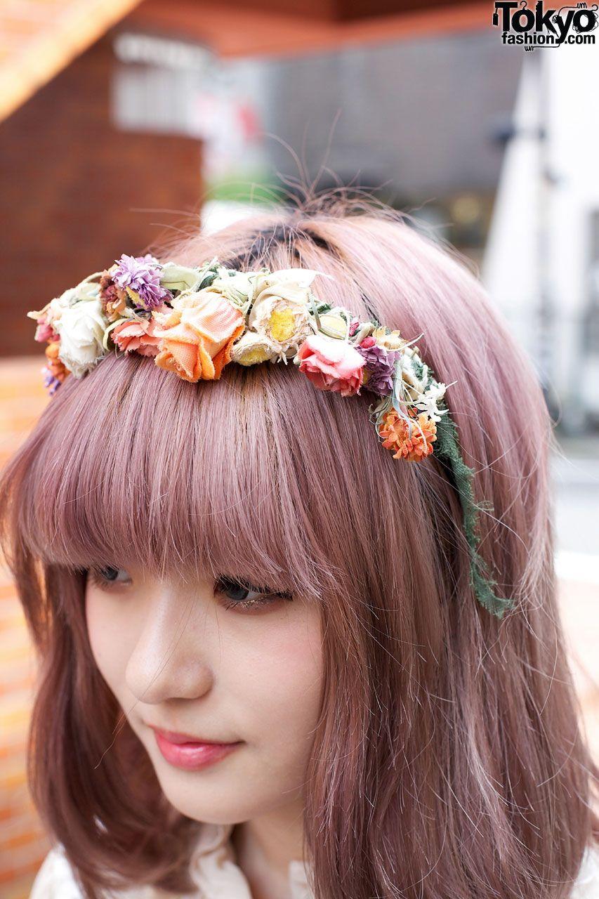 Handmade katyusha w flowers fashion pinterest lavender hair