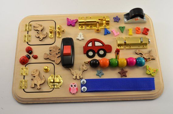 Cars Busy board for boy Toys for autism