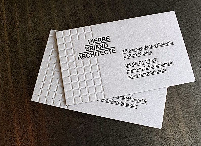Carte De Visite Architects In 2020 Business Card Logo Design