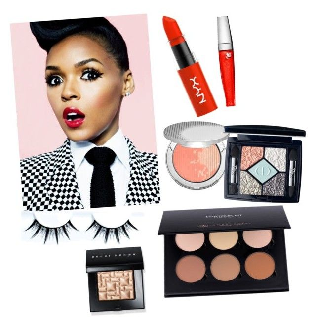 """""""Janelle Monae Inspired"""" by awksilence on Polyvore featuring beauty, Lancôme, Christian Dior and Bobbi Brown Cosmetics"""