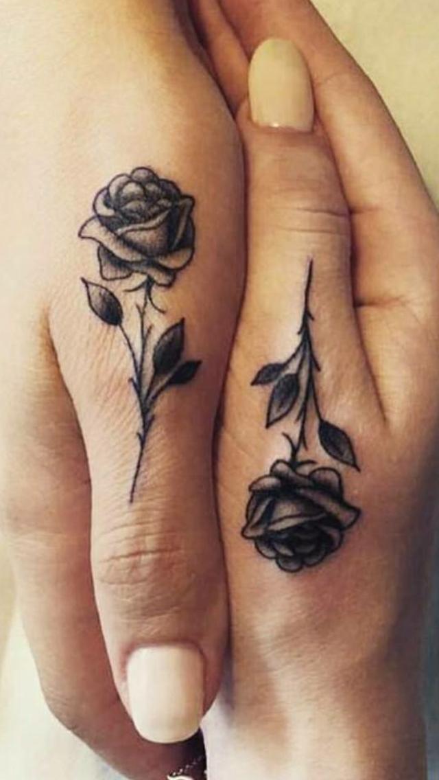 Rose thumb tattoos   Thumb tattoos, Finger tattoos ...