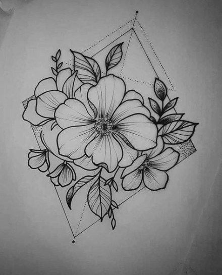 47+ Trendy Ideas For Flowers Drawing Design Ideas Floral