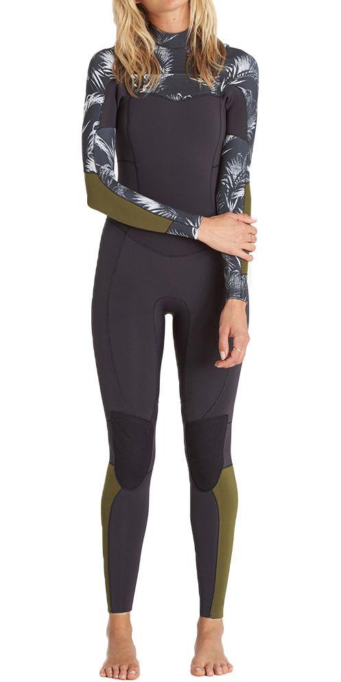 a854e4d2ba 2018 Billabong Ladies Salty Dayz 3/2mm Chest Zip Wetsuit - BLACK SANDS  C43G03