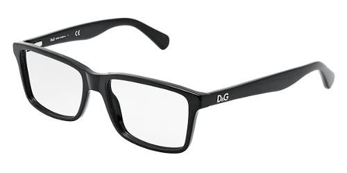 3178e5b02f Dolce   Gabbana Eyewear  model DD 1240 - Men Ophthalmic Collection. Square  Glasses with Black Frame in Plastic.