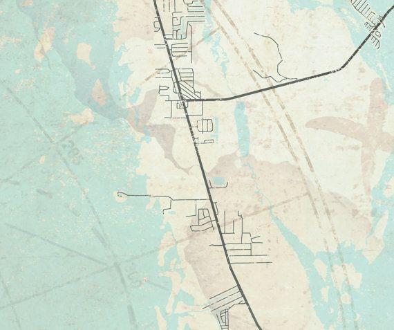 CAPE CORAL Canvas Print Florida FL Cape Coral Vintage Map City - Oversized vintage maps