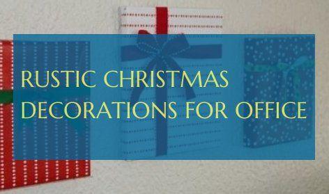 rustikale weihnachtsdekorationen für büro