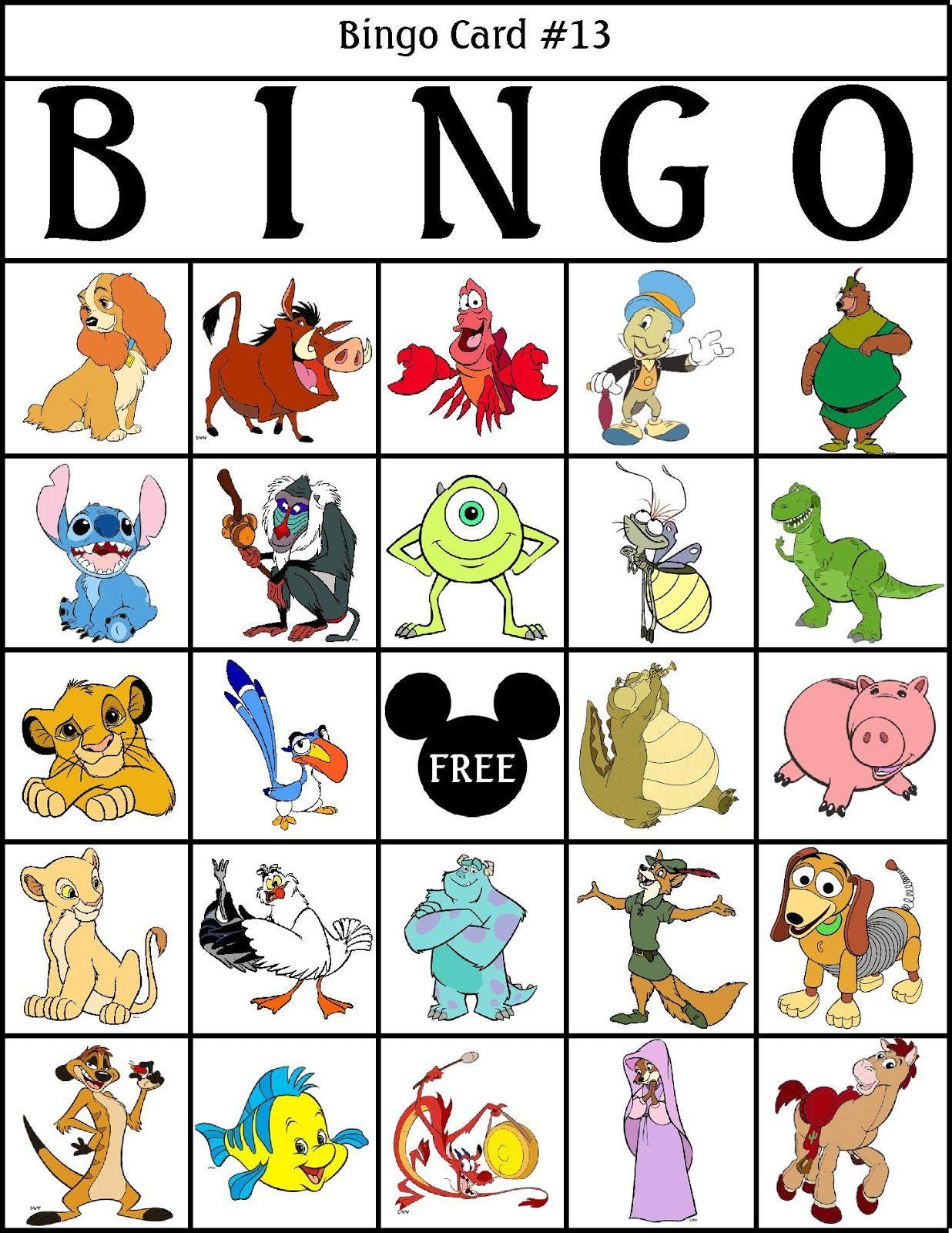 Robbygurls Creations Printable Disney Bingo