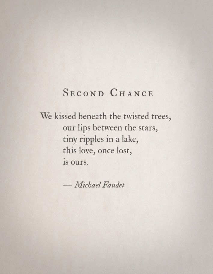 Second Chance Quotes Michael Faudet Love Writings  Book Page  Quote  Poetry