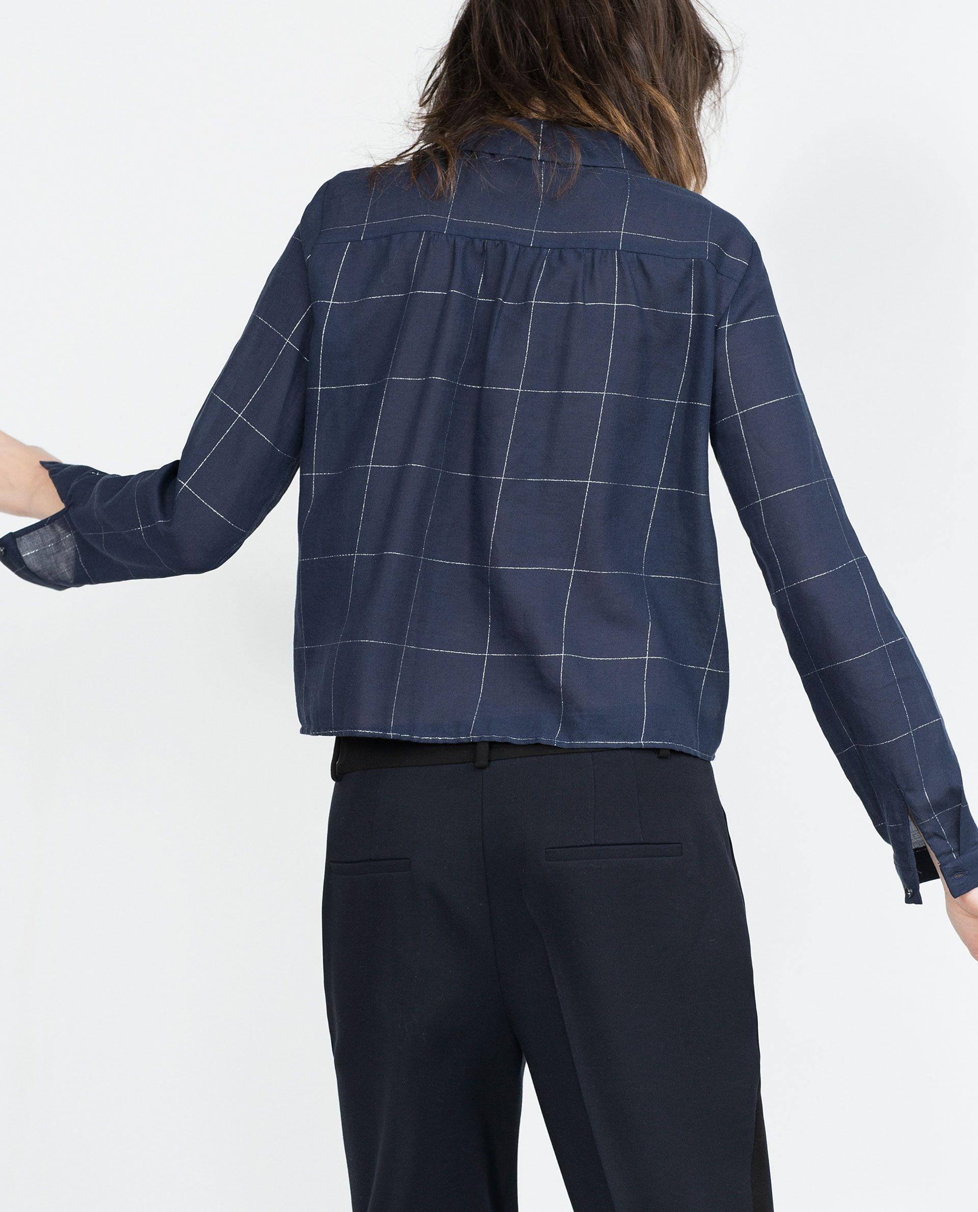 Zara flannel shirt mens  CHECK SHIRT  View all  Tops  WOMAN  ZARA United Kingdom