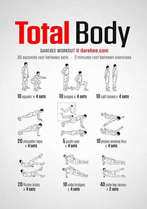 No-Equipment Total Body Workout
