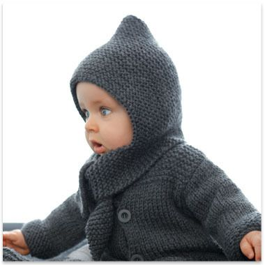 f4e855afccb7 Modèles   patrons tricot gratuits   Baby Boy - Hooded Sweaters Knit    Pinterest   Knitting, Crochet and Knit Crochet