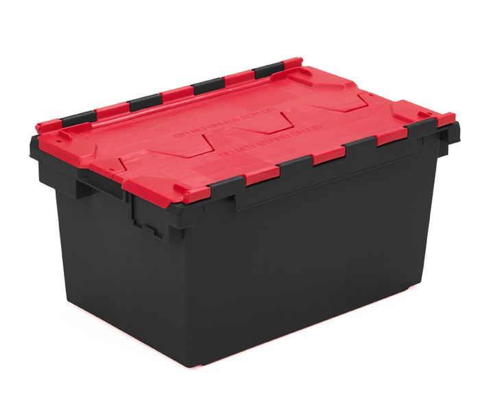 Plastic Storage Crates With Closed Attached Lid Plastor