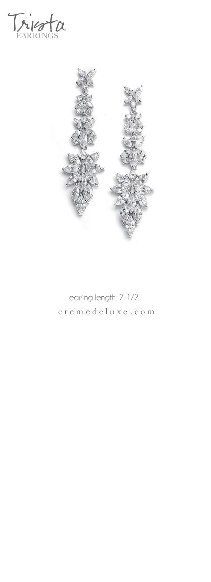 Trista Earrings: Amys Bridal Accessories