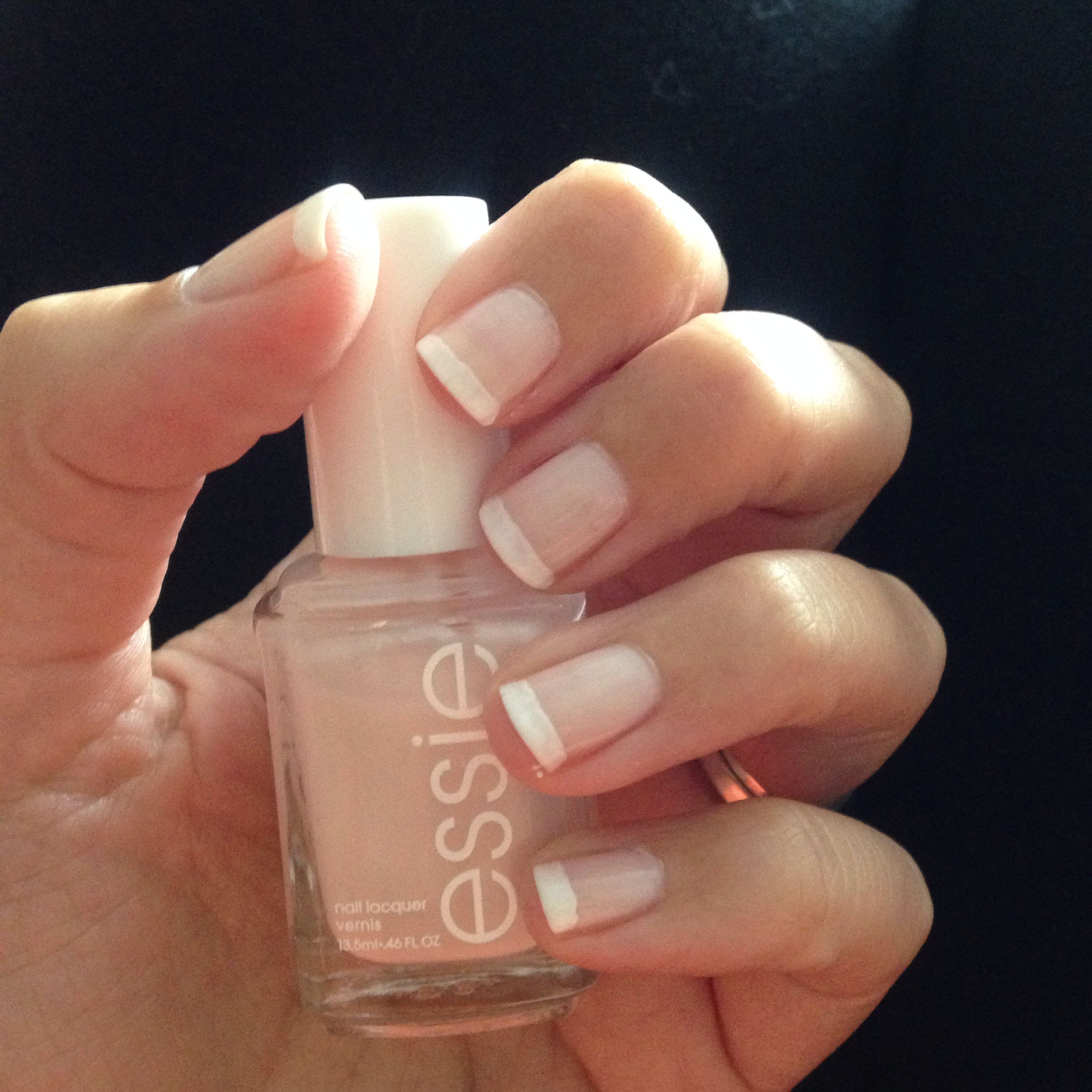 French Manicure Using Essie S Ballet Slippers And Blanc Manicure French Nails Nails