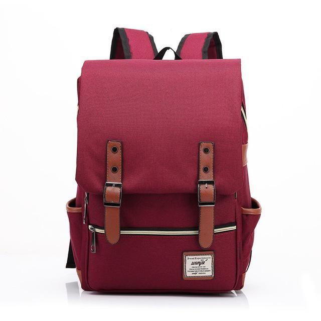 02f33c378ea5 ... Vintage Fashion Women Backpack Large Men Canvas Backpacks Laptop  Rucksacks for School Satchel Bookbag Business Teenage ...