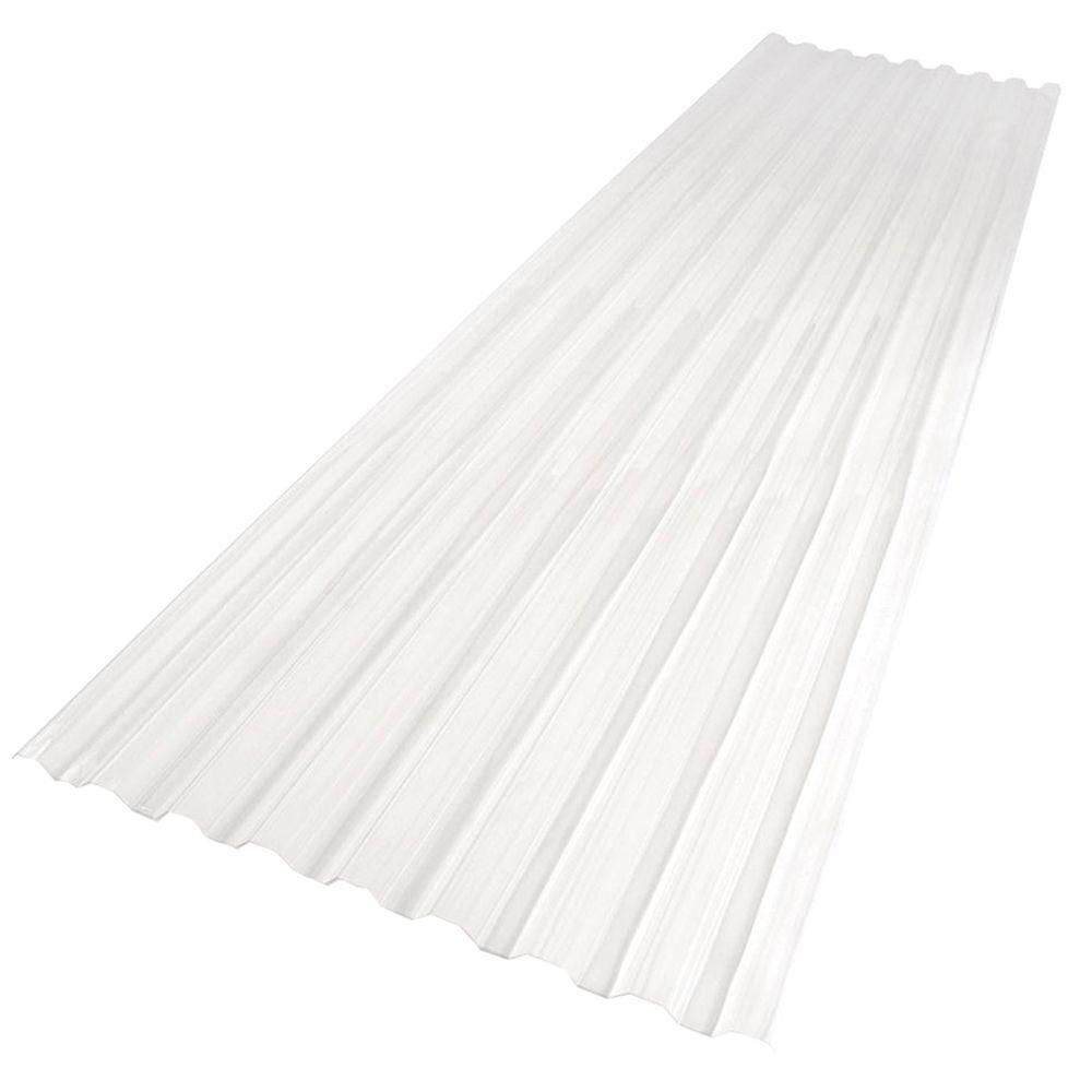 Suntuf 26 In X 12 Ft Polycarbonate Roofing Panel In Clear 101699 The Home Depot Roof Panels Fibreglass Roof Polycarbonate Roof Panels