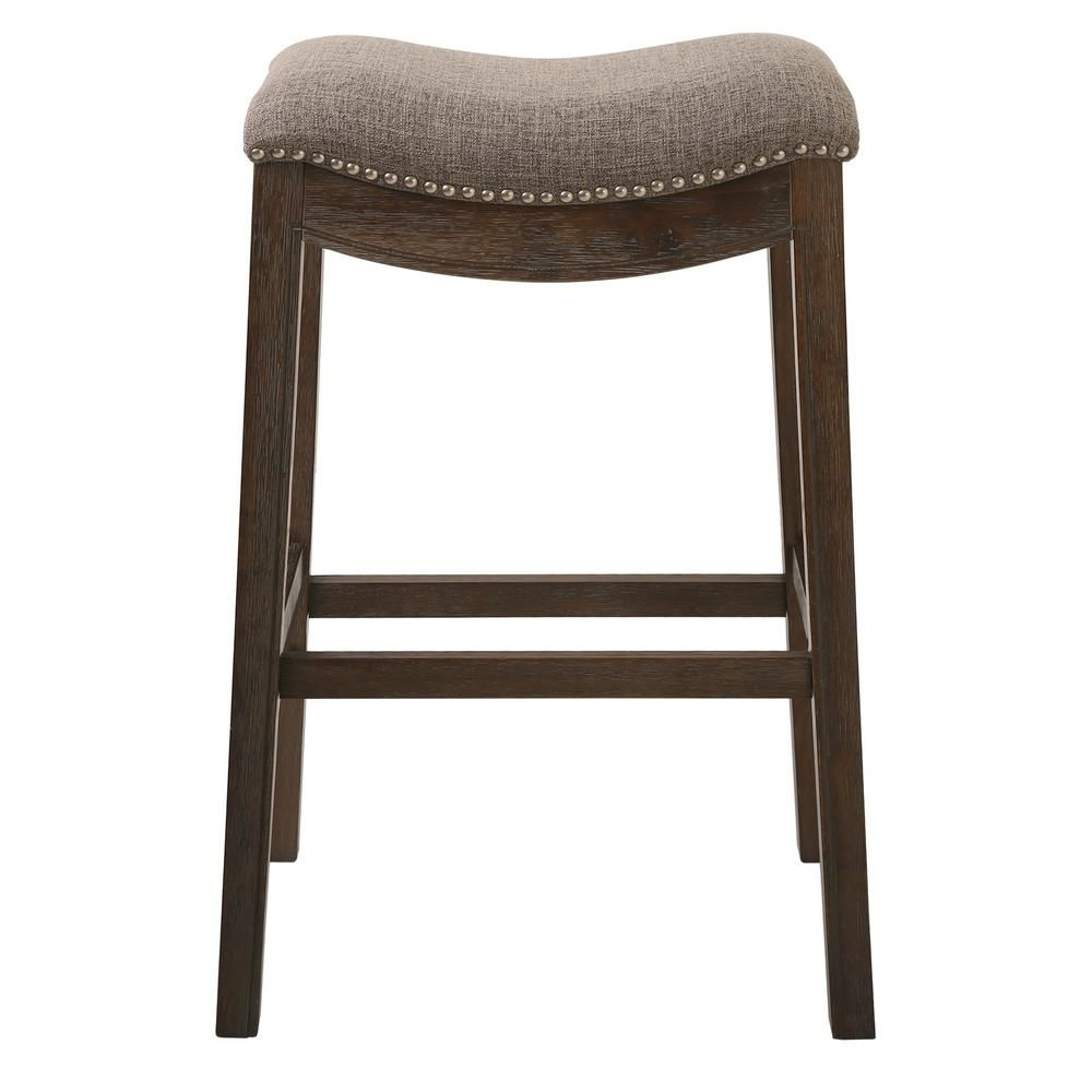 New Ridge Home Goods Saddle Style 30 Bar Height Stool With