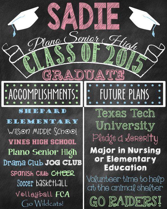 graduation poster chalkboard high school graduation college