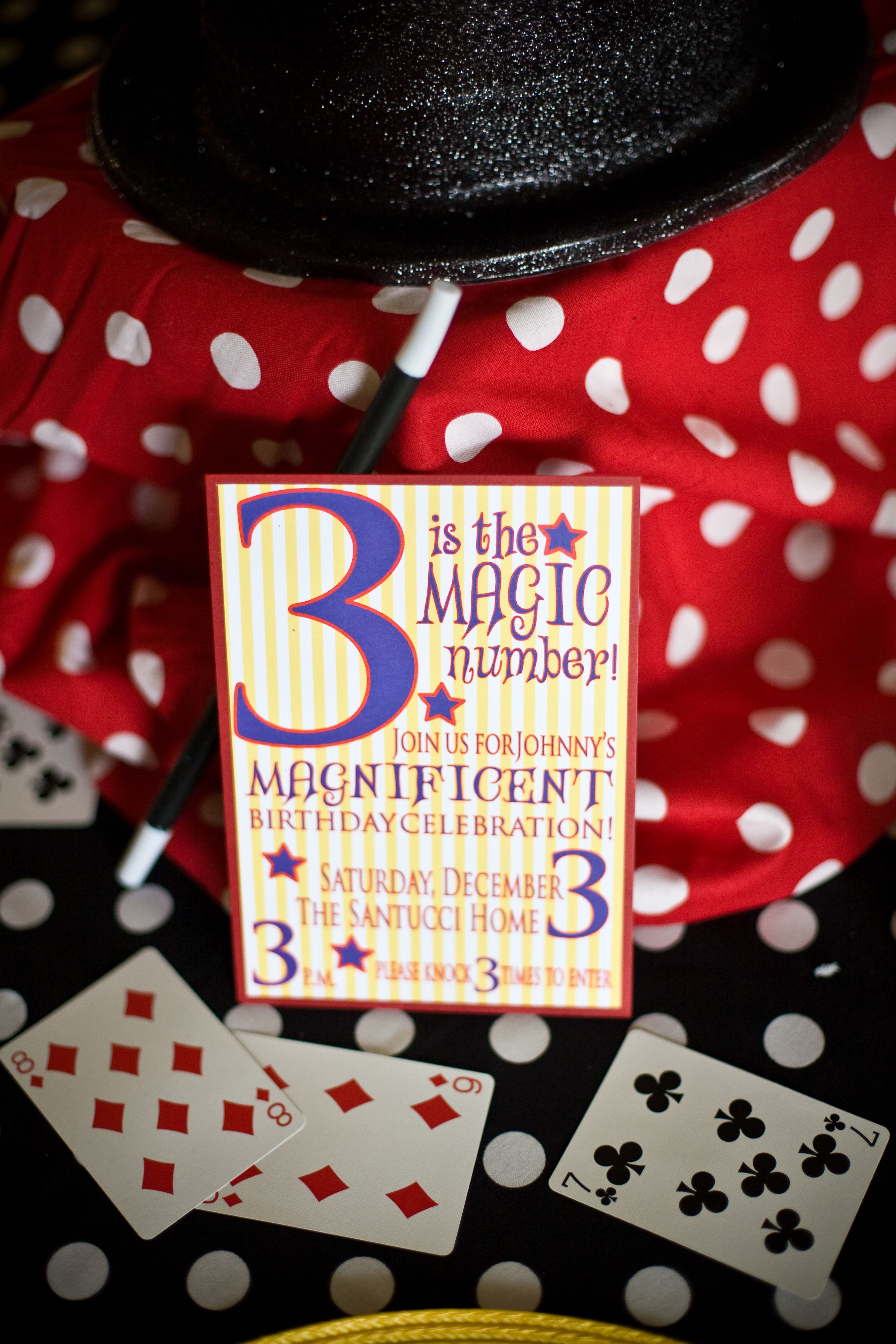 Magic-themed birthday party invitation! | Paper Products {Clever ...