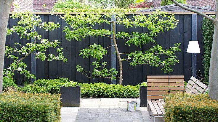 Tuin Terras Modern Zwarte Schutting Google Zoeken Onze Tuin In
