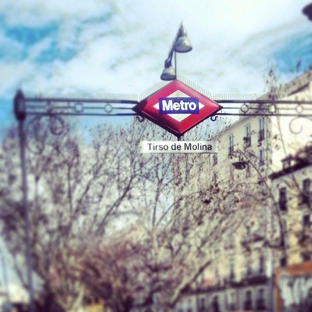 Metro station. Madrid