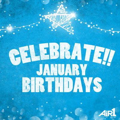 Happy Birthday to all who have January birthdays