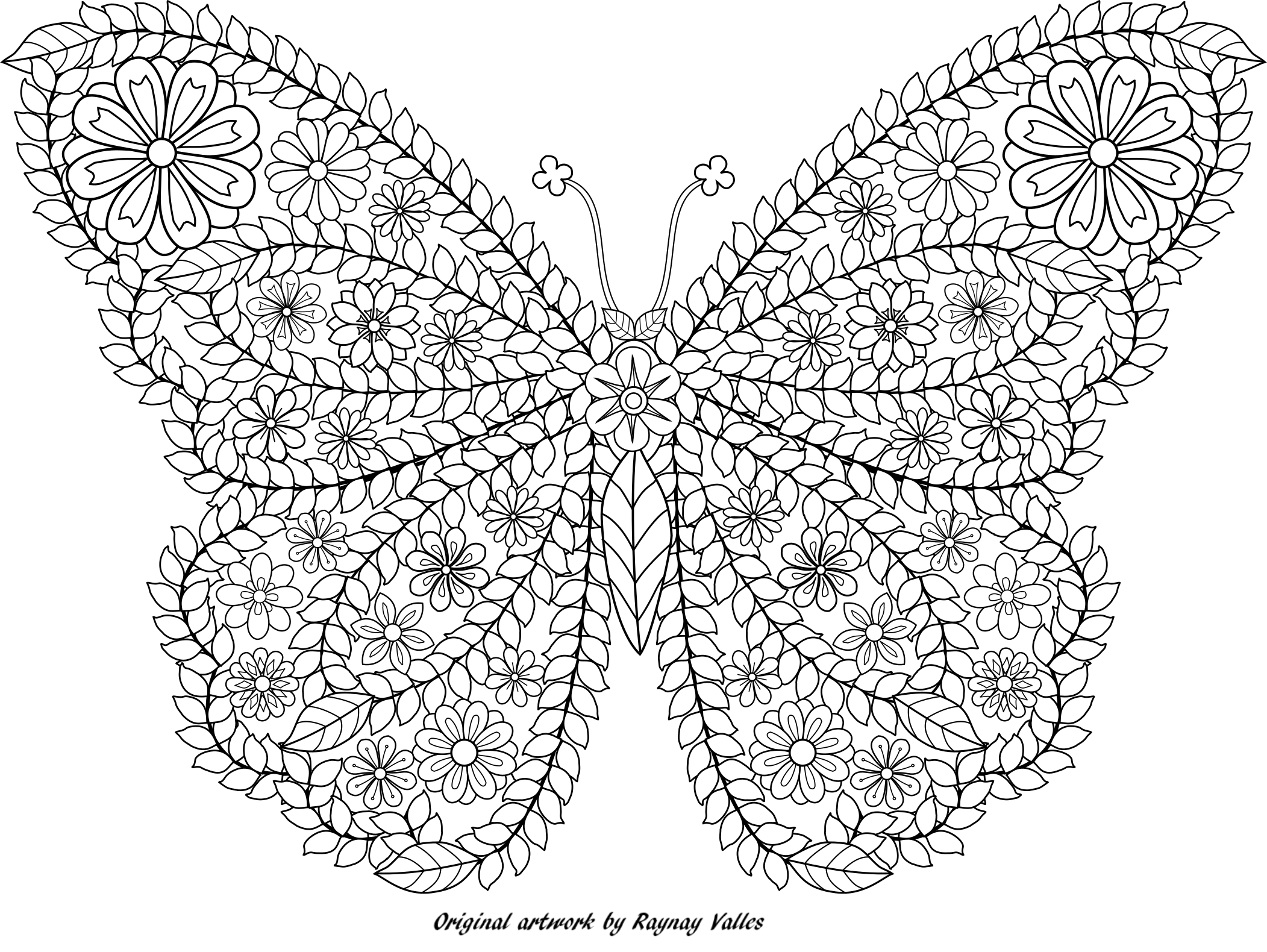 Http I0 Wp Com Raynayvalles Com Wp Content Uploads 2015 08 Flower Butterfly By Rv Png Butterfly Coloring Page Coloring Books Mandala Coloring Pages [ 1580 x 2103 Pixel ]