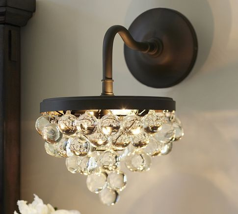 Callia crystal flushmount pottery barn bathrooms pinterest pottery barn and wall sconces
