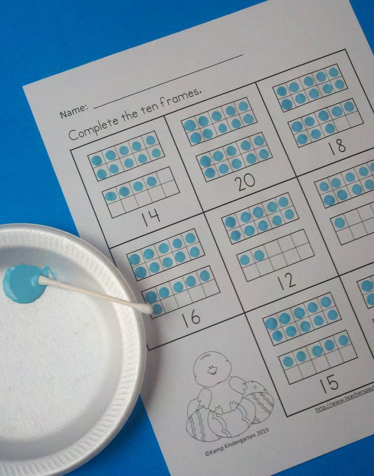 Easter Ten Frames No-Prep Printables (Quantities of 11 to 20 ...