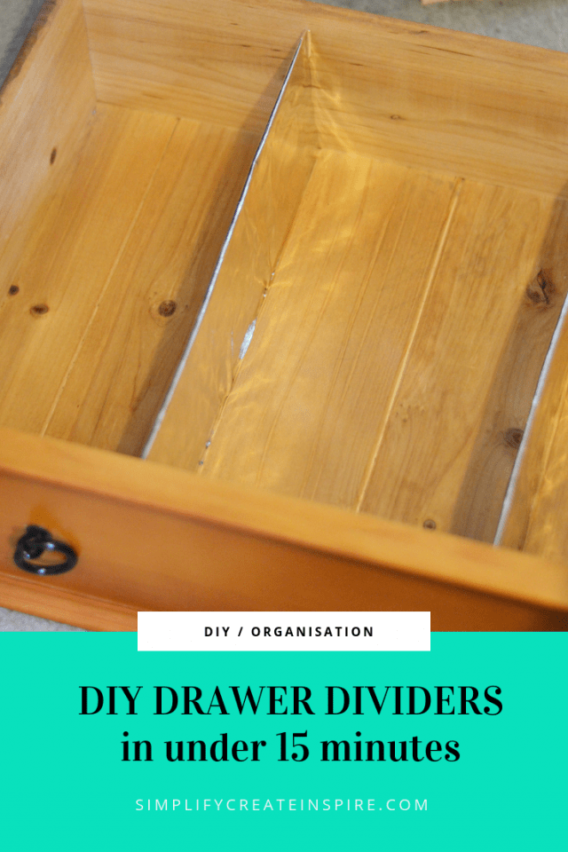 Diy Custom Drawer Dividers In Under 15 Minutes Diy Drawer