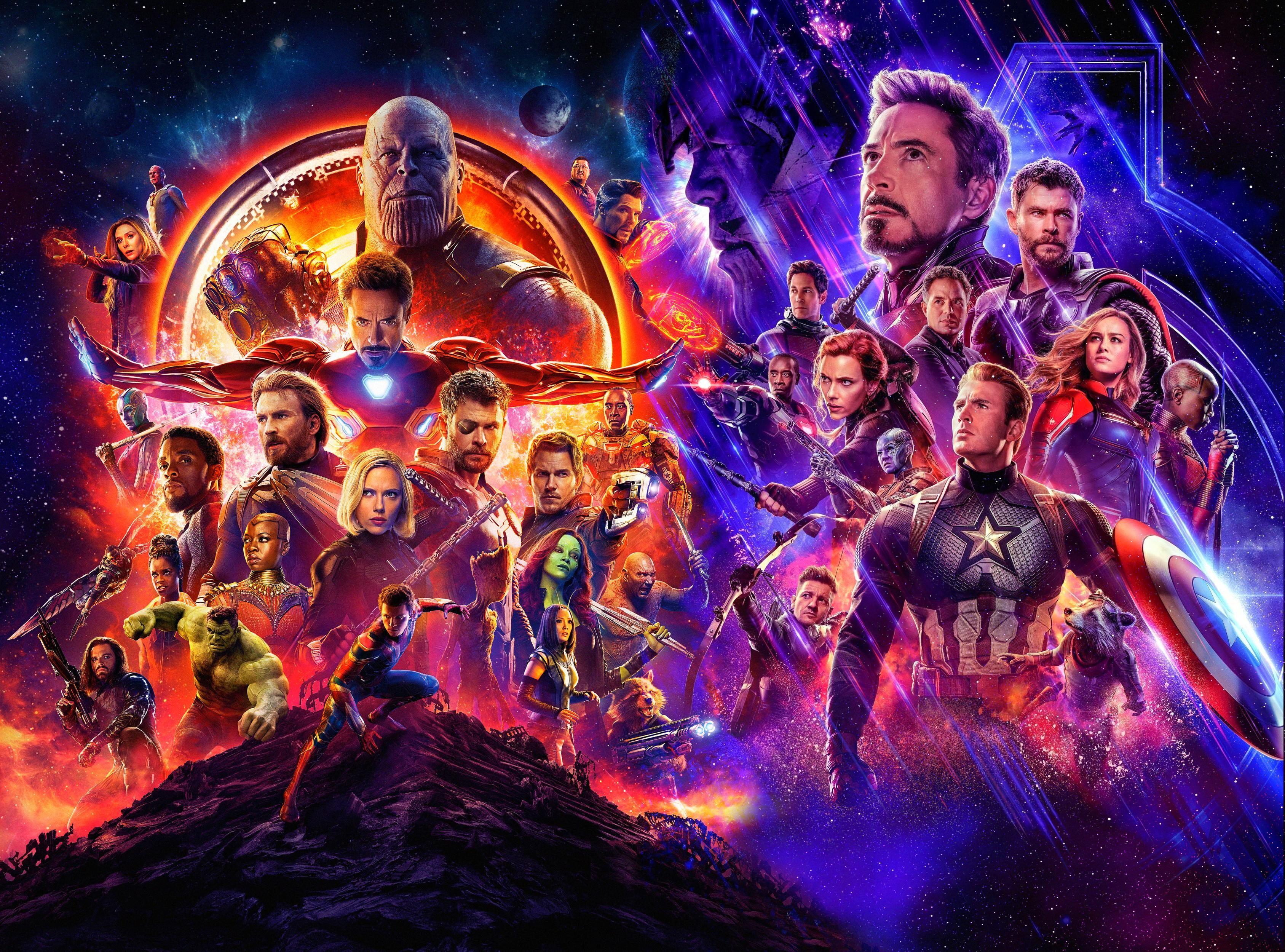 Avengers Infinity War Endgame Fond D écran Hd Arrière