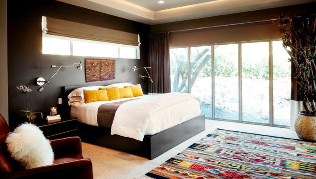 Schlafzimmer Einrichten Ideen Exotische Deko Grau | Ideen Rund Ums ... Schlafzimmer Deko Ideen Grau
