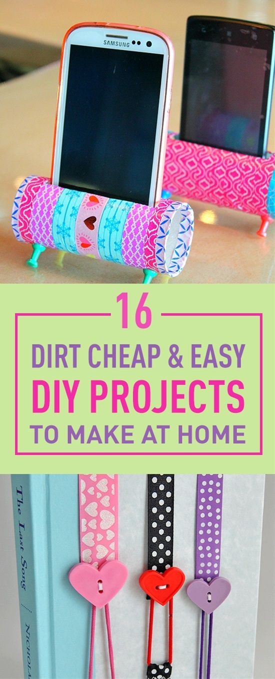 16 dirt cheap easy diy projects to make at home for Arts and crafts to make at home