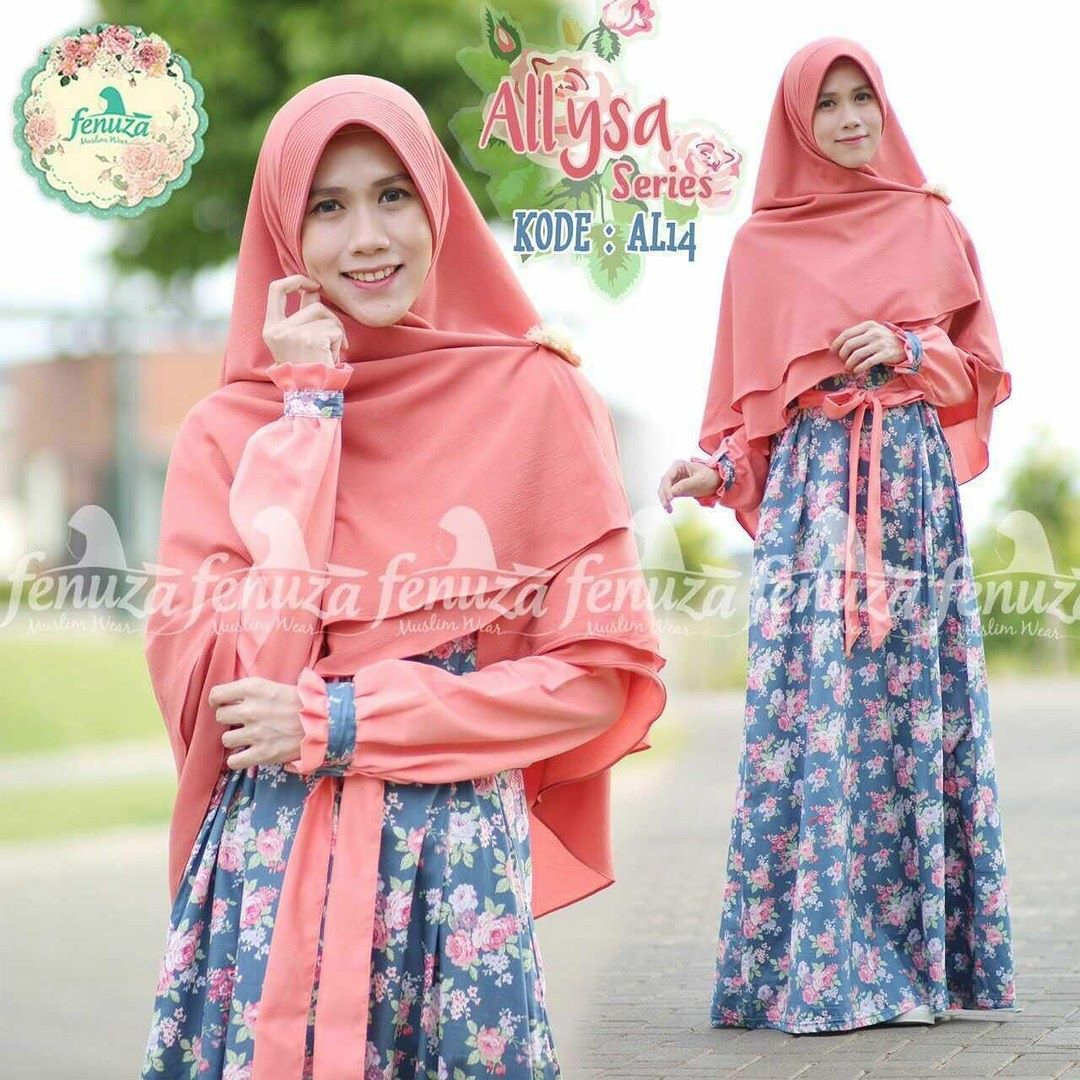 Gamis Fenuza Muslim Wear Allysa Series Al14 Baju Gamis Wanita